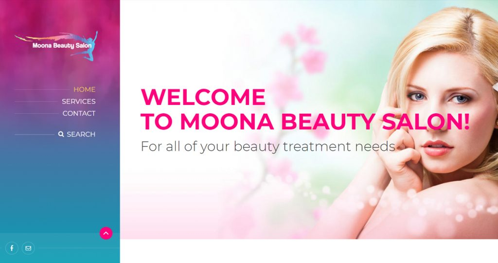 Moona Beauty Salon Website-customer